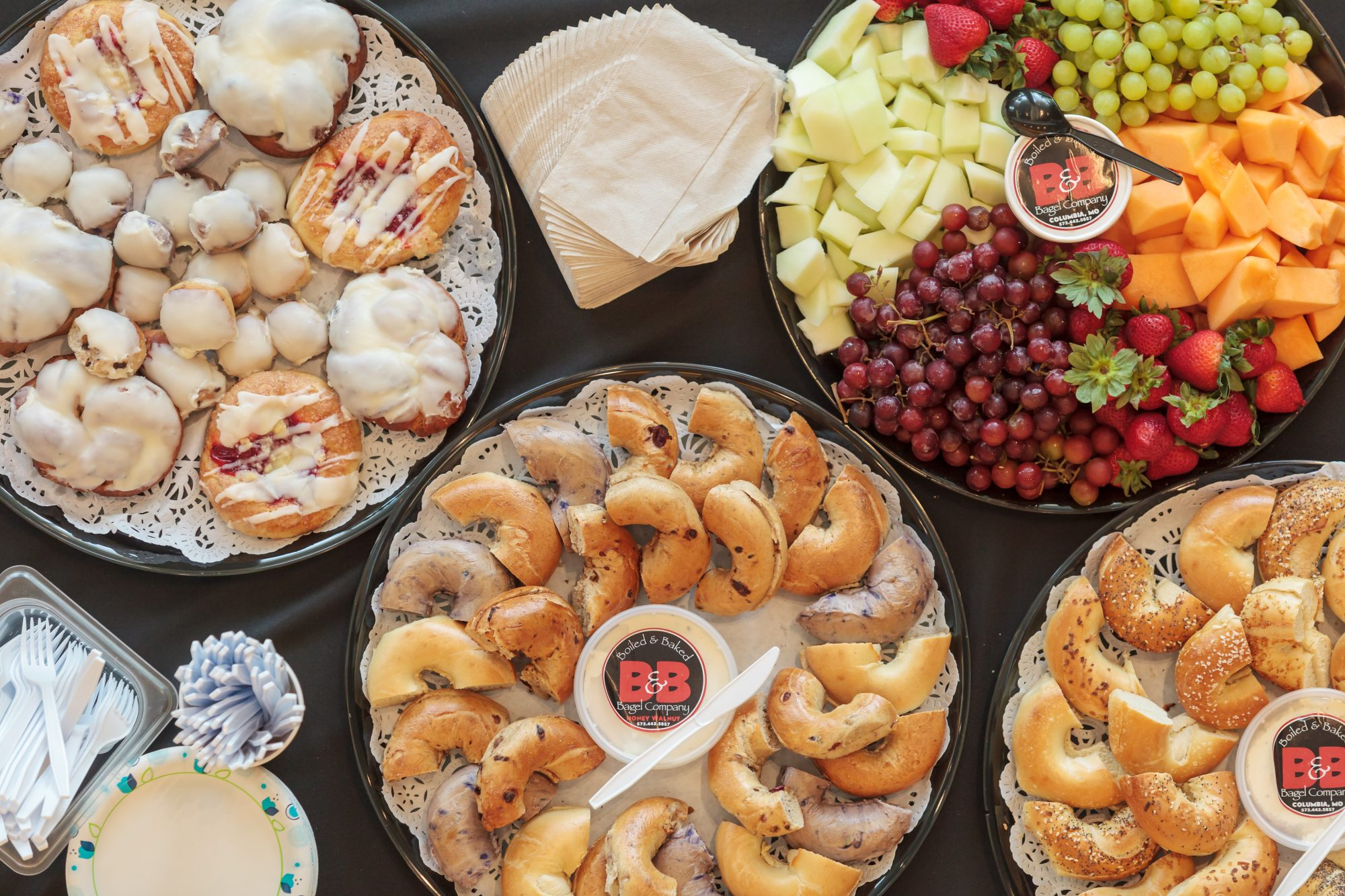 catering bagels pastries fruit